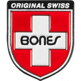 Připínací odznak Bones Bearings Swiss Shield Lapel Pin