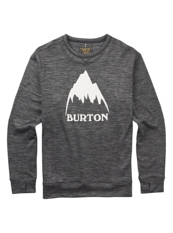 0e76e0b08f7 Pánská mikina Burton MB OAK CREW TRUE BLACK HEATHER - Skateshop