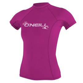 Dámská lycra O'Neill WMS Basic Skins S/S Crew - růžová