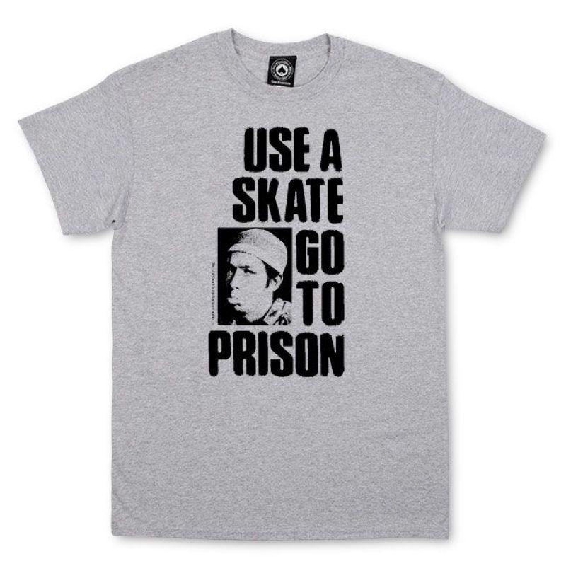 aaf1f32b804 Triko Thrasher Use A Skate Go To Prison - šedé - Skateshop