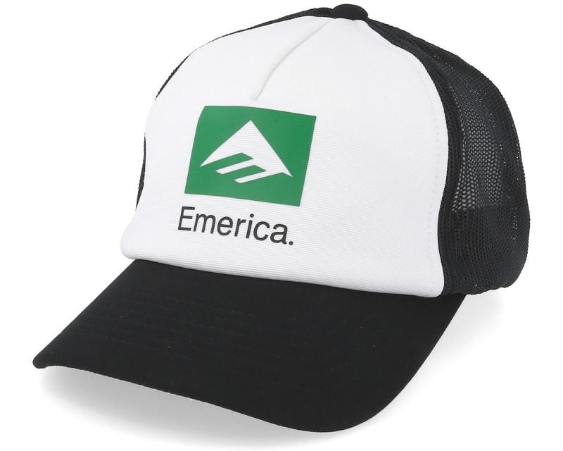 Kšiltovka EMERICA Brand Combo Trucker - WHITE BLACK - Skateshop f1b33efa0f