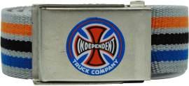 Pásek INDEPENDENT - Stripes T/C Light Grey