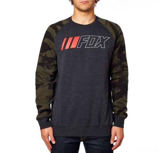 Pánská mikina Fox Racing Crewz Crew Fleece Heather Black S