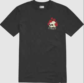 Triko ETNIES Rose Roll - černé