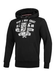 Mikina KP s kapucí PitBull West Coast OLDSCHOOL RAZOR - černá