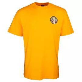 Triko Independent Split Cross T-Shirt Gold