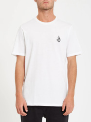 Pánské triko Volcom Iconic Stone Ss Tee - White