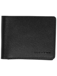 Peněženka Volcom Evers Leather Wallet - Black
