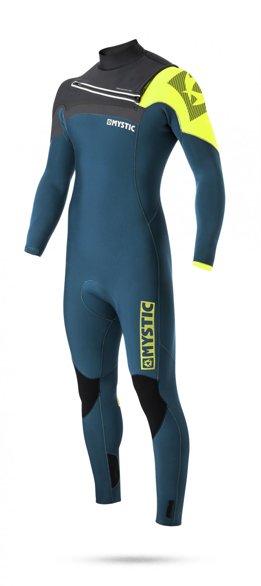 Neoprenový oblek Mystic Majestic 4/3 D/L Fullsuit Frontzip, Lime L