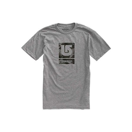 Tričko Burton Logo Vertical Fill Ss grey heahter M