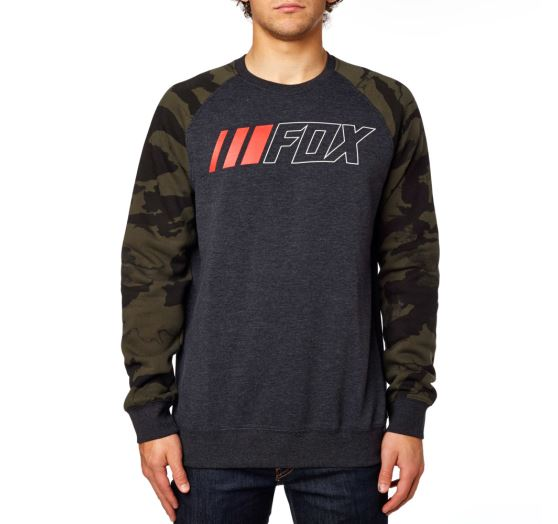 Pánská mikina Fox Racing Crewz Crew Fleece Heather Black L