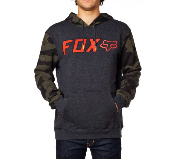 Pánská mikina Fox Racing Diskors Pullover Fleece Heather Black M