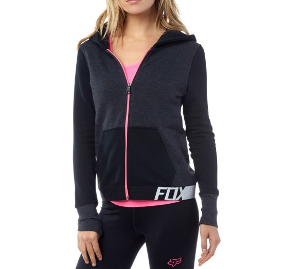 Dámská mikina Fox Racing Certain Zip Hdy Heather Black XS