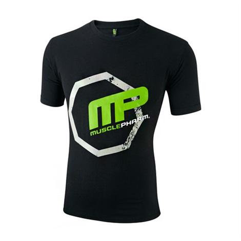 MUSCLEPHARM Pánské triko OCTAGON - černé M